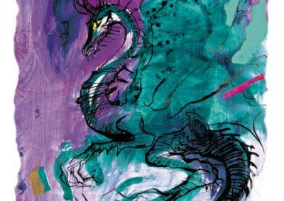Fialový drak